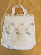 Knitting Bag or Ladies Bag with Embroidered Scottish Thistle Design