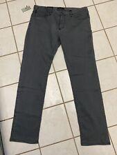 JOHN VARVATOS USA NWT! Dark Gray BOWERY SLIM STRAIGHT Stretch Jeans Sz 38