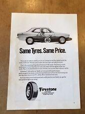 "VINTAGE 1969 FIRESTONE TYRES CAR ORIGINAL ADVERT (11"" x 7.75"")"