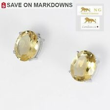 5.8 ct NATURAL YELLOW CITRINE  SILVER EARRINGS