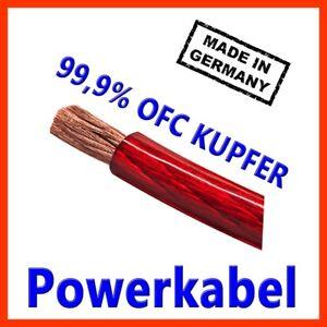 25mm2 Stromkabel Powerkabel made in Germany CarHifi OFC Kupfer 25mm 25mm²  ROT