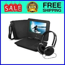 """New listing 7"""" Portable Dvd Player with Color Headphones and Carrying Case Bundle"""