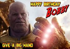 Infinity War Glove Avengers Thanos Personalised Happy Birthday Greeting Art Card