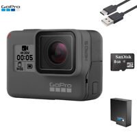 GoPro Hero 5 Black Edition 4K Action Camera With Battery + USB Charger + SD Card