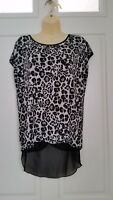 Animal Print Hi-Low - Sheer Back Blouse by Hot Ginger SZ/2X Worn Once!