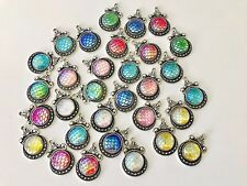 Wholesale Lot Mermaid Scales charms, 60 charms, random color mix,  USA