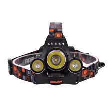 2015 Top 3 x CREE XM-L LED 5000Lm Linterna Frontal Cabeza Headlamp Headlight