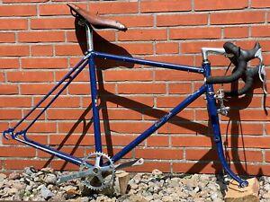 """Claud Butler Vintage Rennrad Stahl Rahmen, 50er/60er Jahre 27"""", Gabel defekt"""