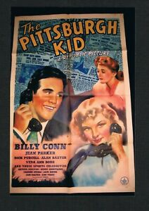 SUPER RARE 1941 BILLY CONN THE PITTSBURGH KID boxing movie poster 1 sheet 27x41