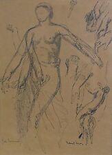 Jules OURY dit MARCEL-LENOIR 1872-1931 Le gai sommeil, encre originale