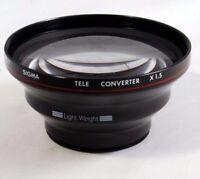 Sigma Tele Converter x1.5 lens For AF Video Camera Light Weight 44-45mm