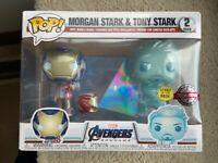 Tony & Morgan Stark Glow GITD Avengers Endgame Funko Pop Vinyls New in Box