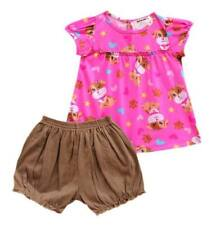 Oshkosh B'gosh Cute Puppy Puff Sleeves Bloomer Set Baby Girl Clothes, 3 months