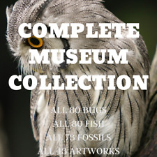 Museum Collection! Bugs/Fish/Fossils/Art