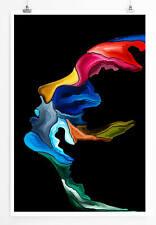 Bild – Abstraktes Frauengesicht im Seitenprofil 60x90cm Poster