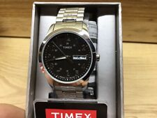 Timex T2M932, Men's Silvertone Expansion Band Watch, Indiglo, Day/Date #2