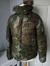 O neill jacket Size S Quilted Hood Camouflage Sport Ski Surf