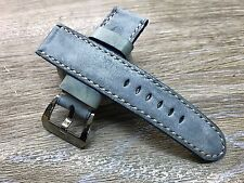 24mm watch strap distress blue 26mm leather watch band for Panerai Free SHIPPING