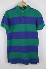 Polo Ralph Lauren Mens Sz Large Green Striped USA Made Shirt Red Pony