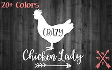 CRAZY CHICKEN LADY QUOTE STICKER DECAL LAPTOP YETI CAR TUMBLER CUP MACBOOK