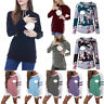 Womens Pregnant Maternity Clothes Nursing  Breastfeeding Top T Shirt Blouse New