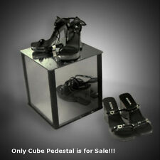 "New Mirror Acrylic Plastic Cube Pedestal 12""W x 12""D x 12""H"