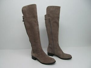 Calvin Klein Gladys  Beige Suede  Over Knee Boots Size Women's 9M