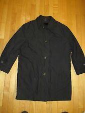 Ralph Lauren Black Coat Wool Lined Rain Stain Repellent Coat Men's S T8