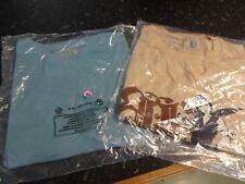 Men's 2 TWO Brand New Shooting Clothing BracenBit T-Shirts, Blue & Beige Size XL