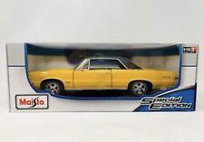 MAISTO 1965 PONTIAC GTO YELLOW RARE SPECIAL EDITION DIE-CAST 1/18
