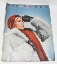 Die Dame Heft 4 / 1940 Mode Kultur Art Deco !