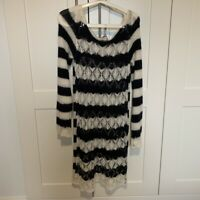 Marks And Spencer Per Una Knitted Dress Size M 20% Mohair 4% Wool Italy BNWT