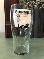 Guinness Pint Glass- Drought Stout Gravity- OSTRICH Art Raised Harp. Vintage new