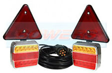 WATERPROOF 12V MAGNETIC LED TRAILER TOWING LIGHTS LAMPS TRIANGLES WITH 10M CABLE