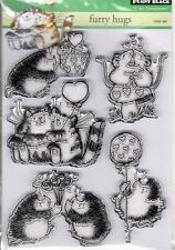 New Penny Black RUBBER STAMP Clear set  FURRY HUGS FREE USA SHIP