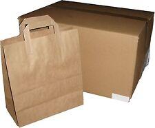 """250 Brown Paper Bags SOS block bottom 10x15.5x12"""" large"""