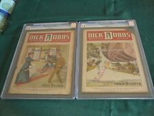 CGC DICK DOBBS WEEKLY RARE ONE OF A KIND COMPLETE COLLECTION DIME NOVEL