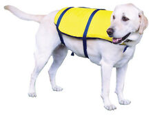 DOG PET LIFE PRESERVER MEDIUM 35-60 lb VEST KENT WATERSPORTS YELLOW/BLACK NYLON!
