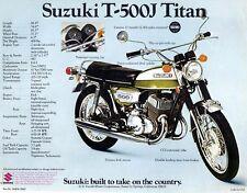 1972 SUZUKI T-500J TITAN SALES SPECS AD/ BROCHURE