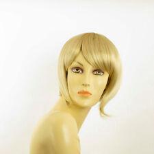 Perruque femme courte blond doré méché blond très clair  CAROLE 24BT613