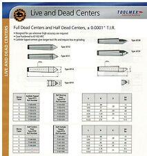 Bison Dead Center MT#4 TIR .0001 Carbide Tipped Lathe European Quality
