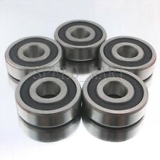5PCS 6200-2RS 6200RS Deep Groove Rubber Shielded Ball Bearing (10mm*30mm*9mm)