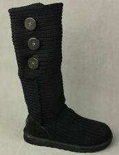 UGG AUSTRALIA CLASSIC CARDY Black BOOTS & Box - Size EU 38 - UK 5.5 - US 7 UGGS