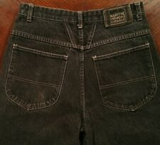 MFG Marithe Francois Girbaud Baggy Cotton Denim Jean Shorts Black Mens 30