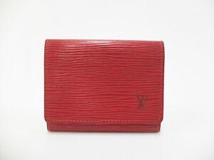 Authentic LOUIS VUITTON Epi Card Case Holder Carte De Visite M5658E Red