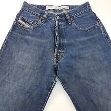 Diesel TRADING Mens Vintage Jeans W29 L34 Dark Blue Regular Straight High Rise