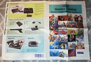 Retro Sega Master System 2 Poster/games Catalogue