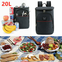 20 Can Cooler Bag Insulated Lunch Travel Ice Pack Picnic Lunch Cold Drinks Bag