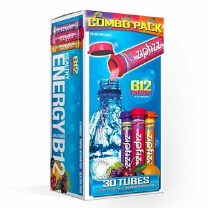 Zipfizz Healthy Energy Drink Mix, Variety Pack w/ B12 and Multi Vitamins | 30ct