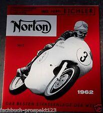 NORTON PROSPEKT 1962 DOMINATOR STANDARD DE LUXE 88 Motorrad Oldtimer Sammler